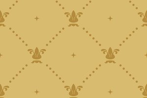 Aristocratic baroque wallpaper