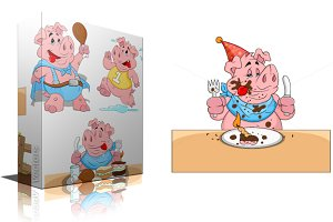 Cartoon Pig Vectors
