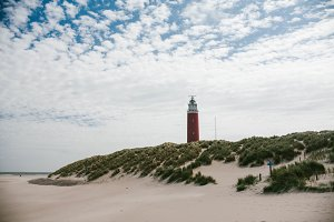 View of the lighthouse. The Island Of Texel, Netherlands