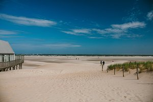 The beach and the North Sea. The Island Of Texel