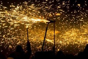 Tradicional 'Correfoc' (runningfire)