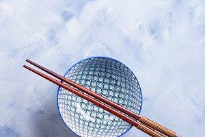 Japanese rise bowl and chopsticks