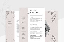 FLORAL Resume/CV + Cover Letter by  in Cover Letters