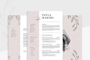 FLORAL Resume/CV + Cover Letter