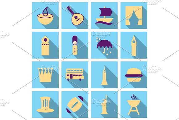 Travel Symbols And Tourism Signs Vector Illustration