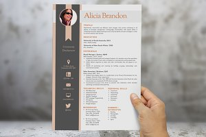 Ribbon photo modern resume