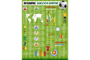 Vector infographics soccer football sport game