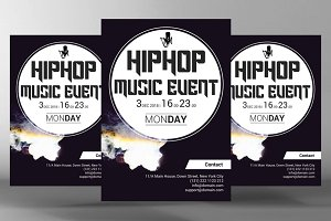 Hip Hop Music Event Flyer
