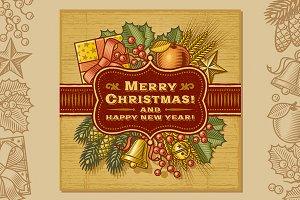 Merry Christmas Retro Card