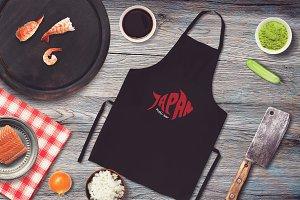 Sushi Bar Apron Mock-up #10