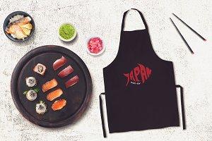 Sushi Bar Apron Mock-up #6