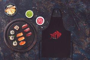Sushi Bar Apron Mock-up #5