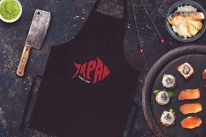 Sushi Bar Apron Mock-up #2
