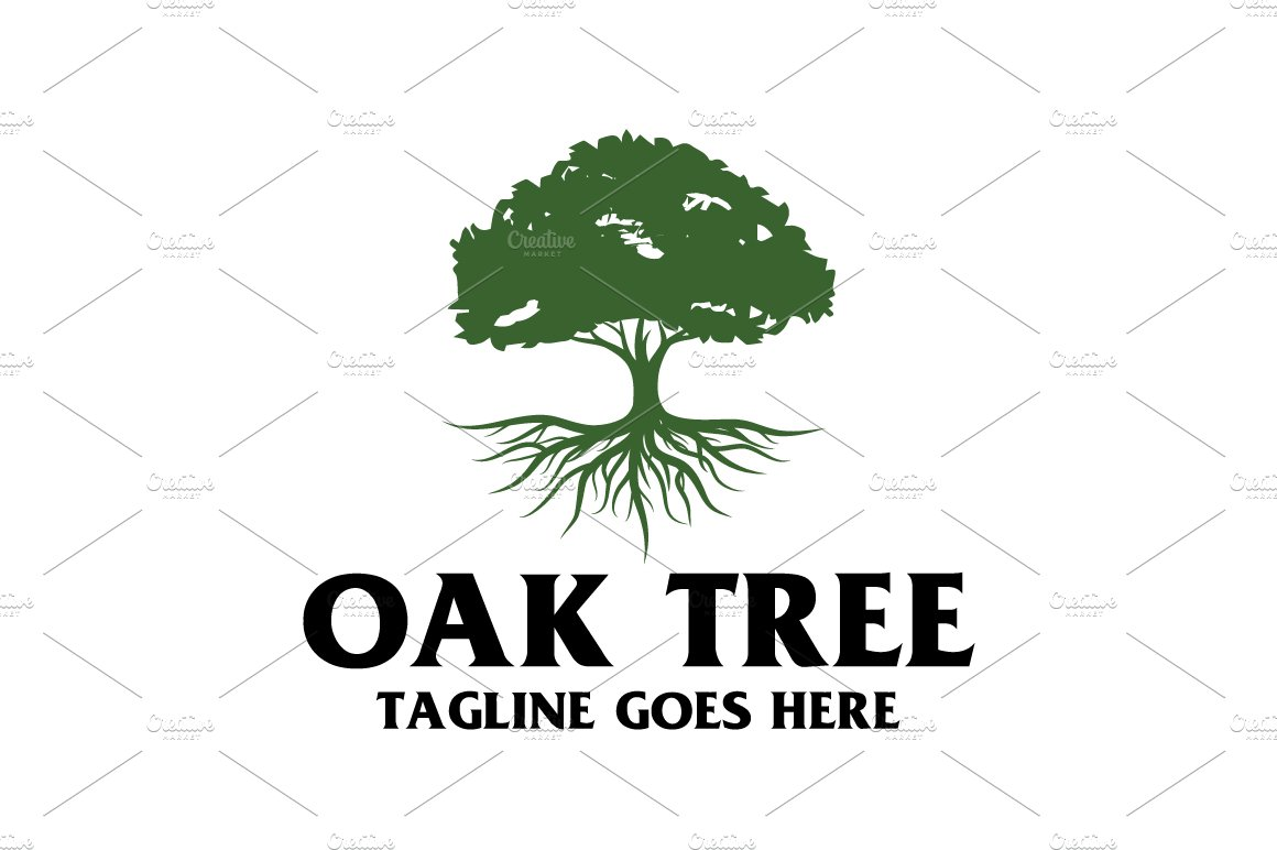Oak Tree Logo Logo Templates Creative Market