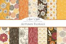 Vector Autumn Floral Digital Paper