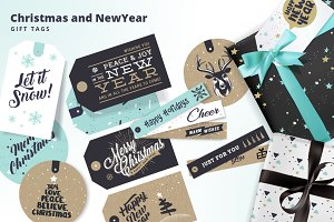 Christmas and New Year's Gift Tags