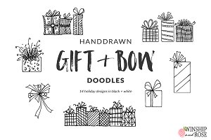 Christmas Gifts & Bows Clip Art