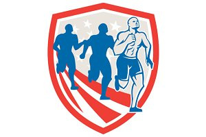 American Strongman Runners USA Flag