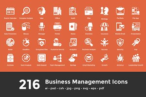 216 Business Management Icons