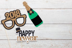 Top  view new year background
