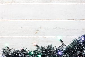 Top  view Merry Christmas background