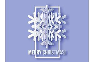 Merry Christmas Greetings card.