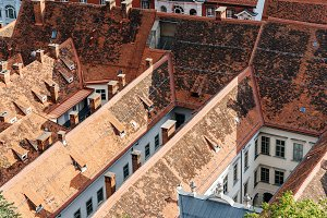 Cityscape of Graz from Schlossberg