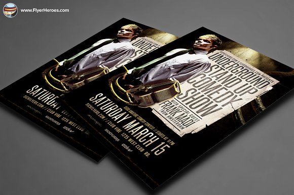 Comedy Show Flyer Template Flyer Templates on Creative Market – Comedy Show Flyer Template