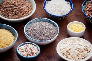 Various cereals and grain