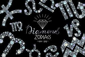Diamond  Zodiac Signs