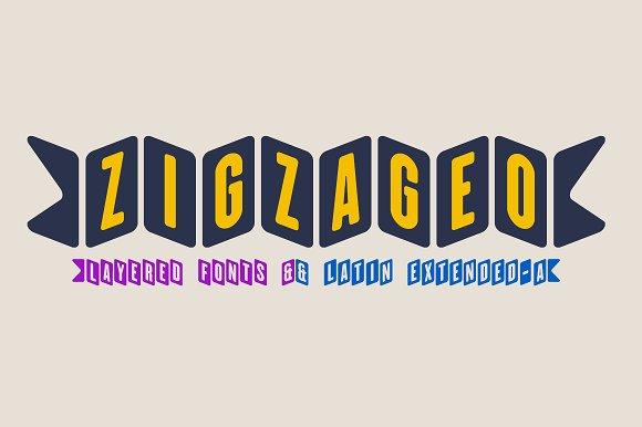 Zigzageo 3 Fonts-