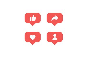 Social network rating icon set
