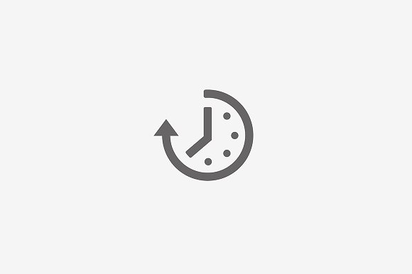 Abstract Time And Clock Icon
