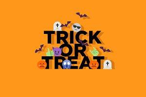 Halloween trick or treat concept