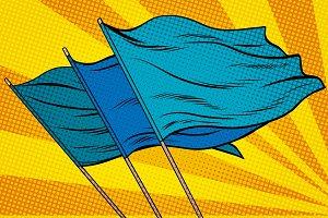 blue flag pop art background