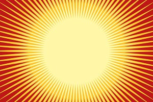 Orange yellow pop art sun background