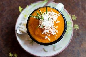 Soup in a mug
