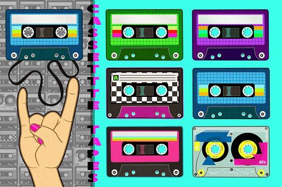Retro Cassette Tapes Graphics