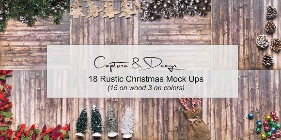 Rustic Christmas Mock Ups