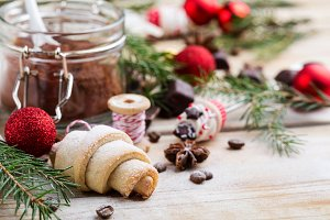 Chriatmas composition with cookie