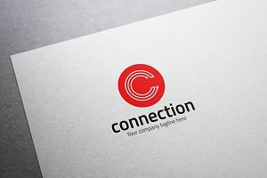 Connection C Letter Logo