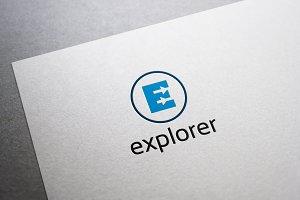Explorer E Letter Logo