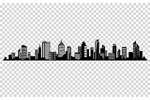 Vector city silhouette