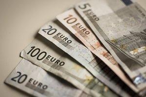 Vintage background of euro bills