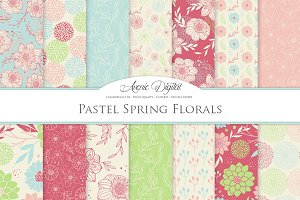 Spring Floral Vector Patterns