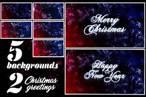 Christmas Frosty Backgrounds