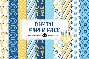 Hanukkah Digital Papers