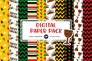 Kwanzaa Digital Papers