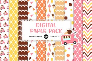 Ice Cream Truck Digital Papers