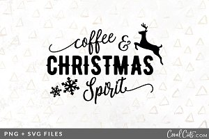 Coffee & Christmas SVG/PNG Graphic